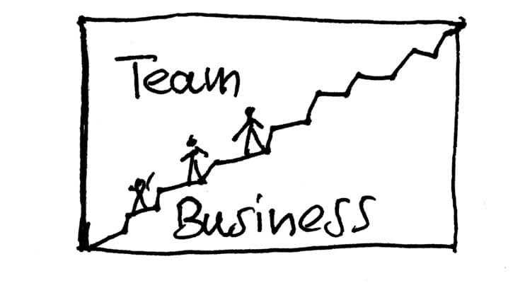 Business Team Umsatzsteigerung