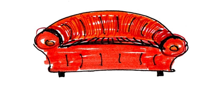 Couch in der Beratung