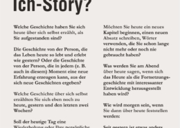 Ich-Story – Was erzählen Sie über sich selbst?