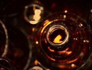 Altes Foto Bierflaschen