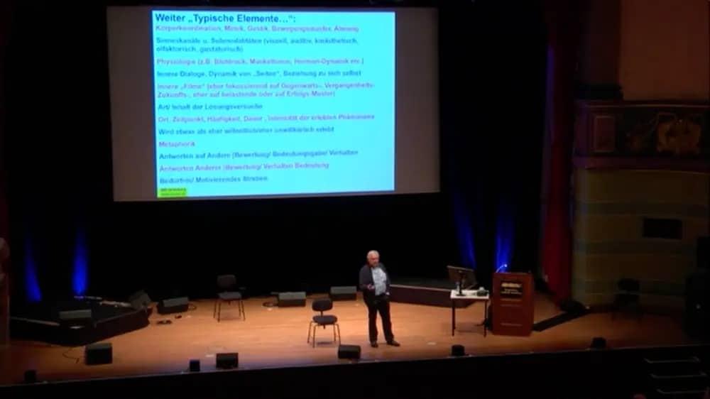 Dr. Gunther Schmidt Live-Seminar und hypnosystemische Beratungssitzung